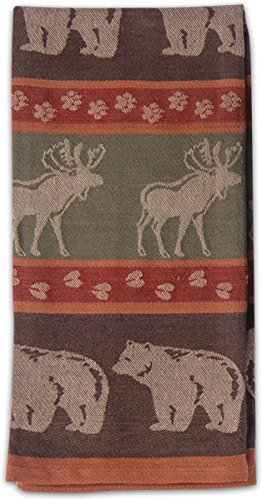 Beau Kay Dee Designs R2103 Moose U0026 Bear Jacquard Tea Towel