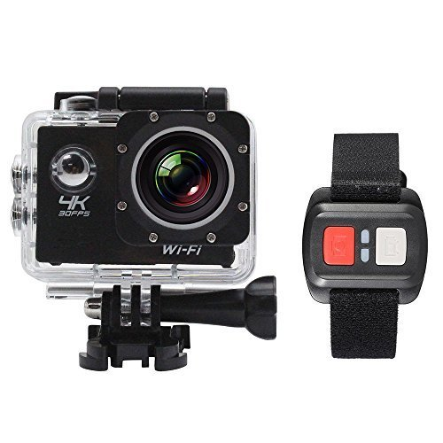 Andoer 2'' LCD Screen Wifi Sports Action Camera 4X Zoom 170°Wide-angle 4K 30fps 1080P 60fps 16MP Waterproof 30M Car DVR Camcorder with Remote Control
