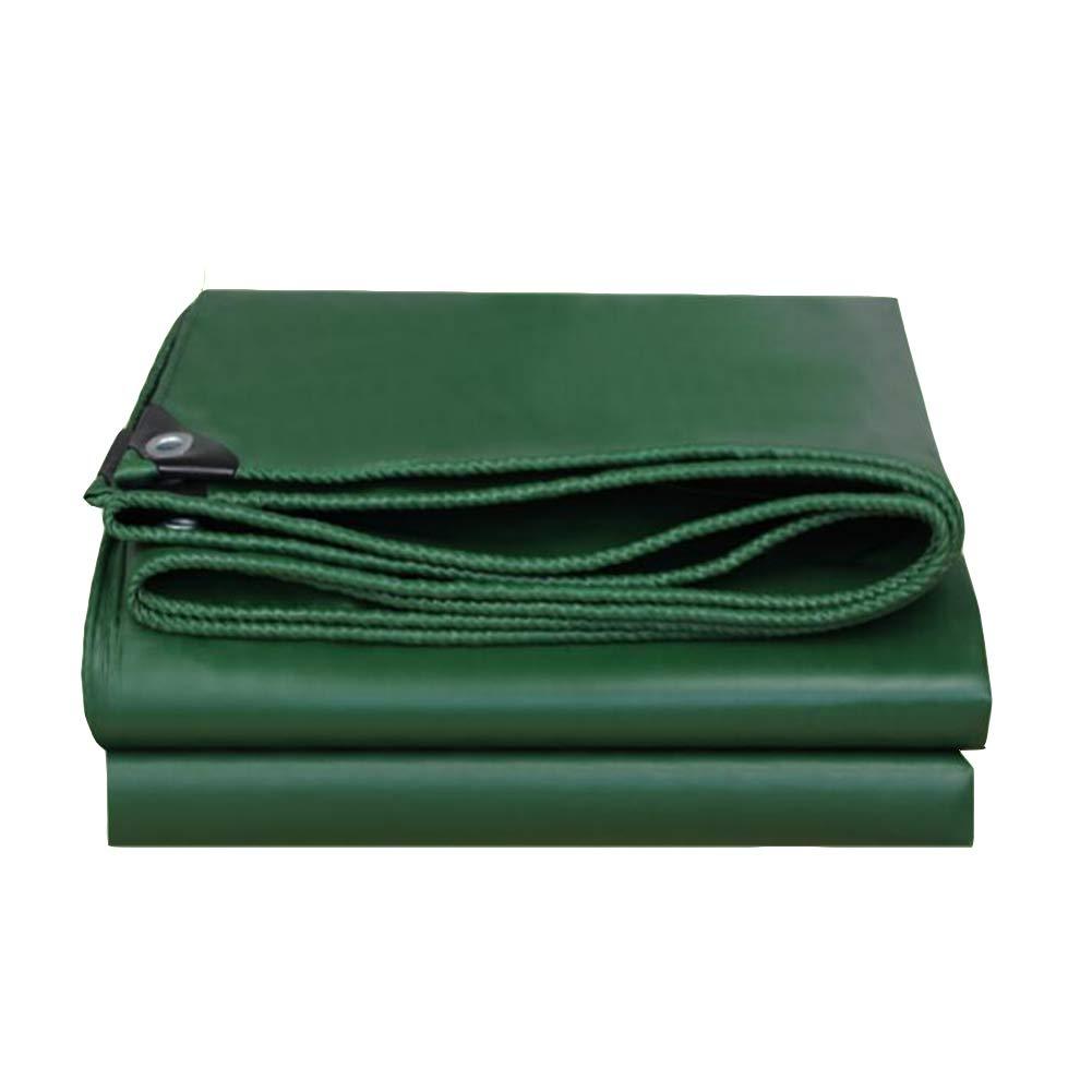 DALL ターポリン ダブルサイド 防水 タープ 雨の布 アウトドア キャンプ シェードカバー 550g /m² (色 : 緑, サイズ さいず : 5×5m) 5×5m 緑 B07KXDBZV2