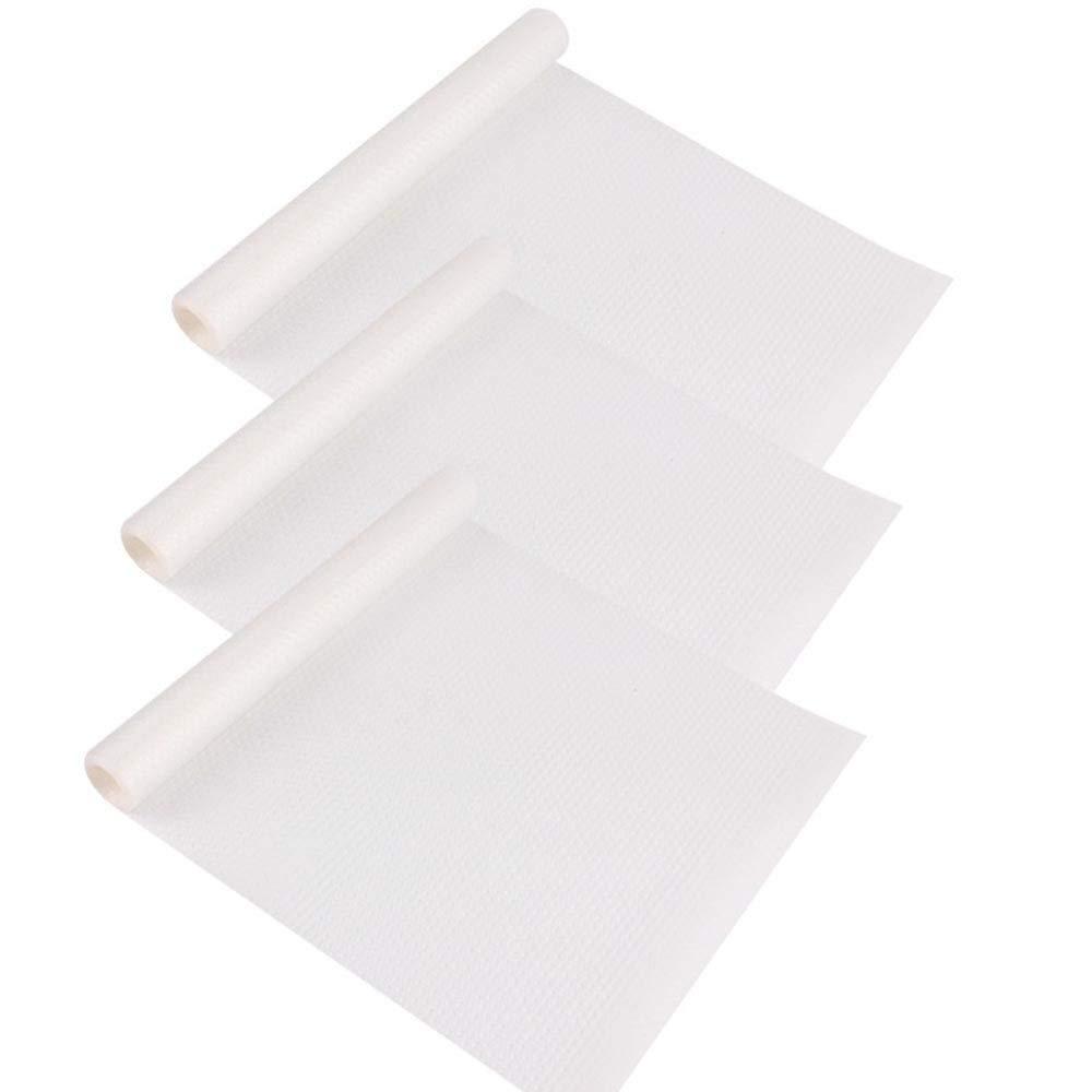 3pcs EVA Tapis de Réfrigérateur,Antifouling Mildew Waterproof Pads,Anti-Encrassement L'absorption D'humidité Pad,150CM x 30CM,Pour napperons, sous-verres,Transparent knowing