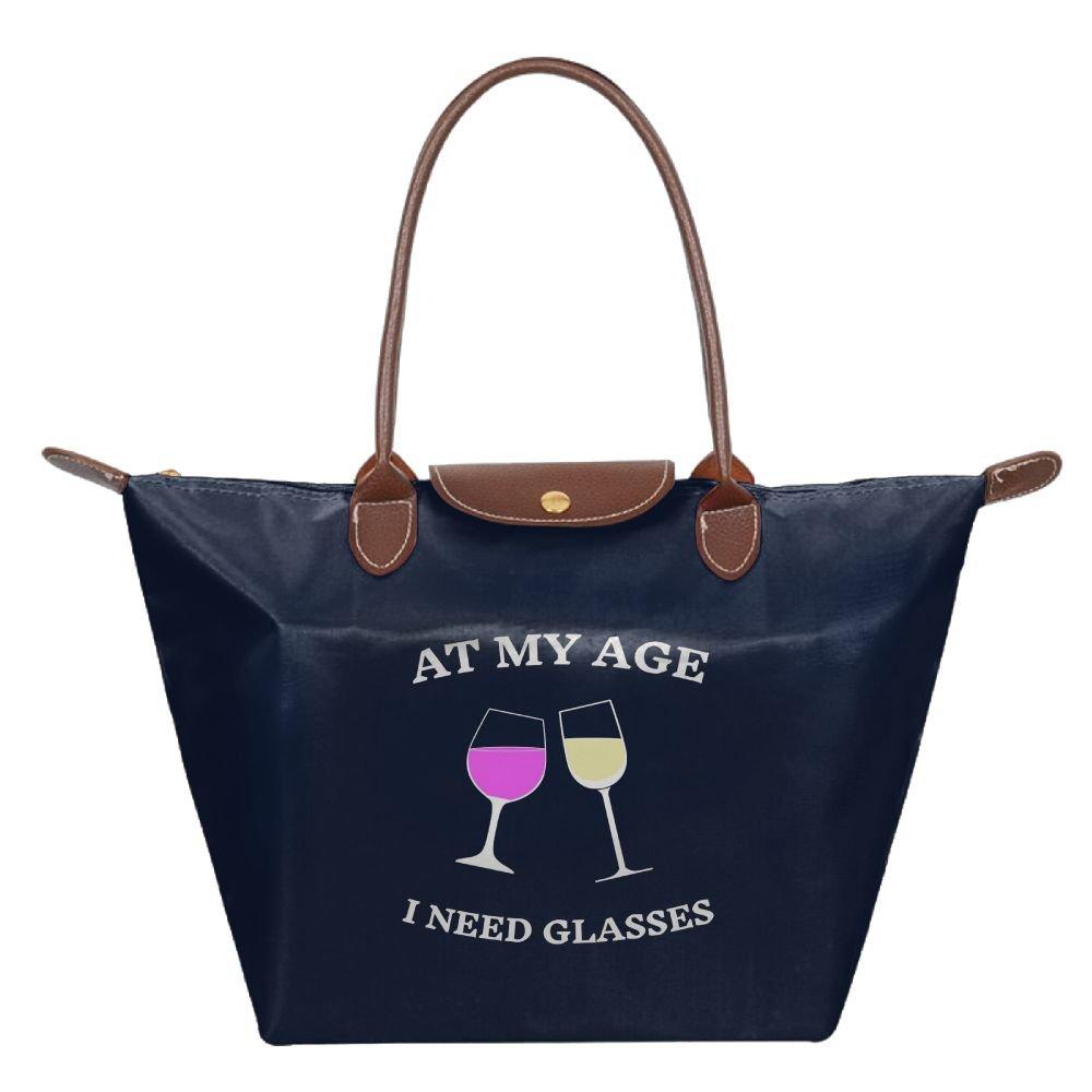 Adwelirhfwer Unisex At My Age I Need Wine Glasses Folding Packet Navy
