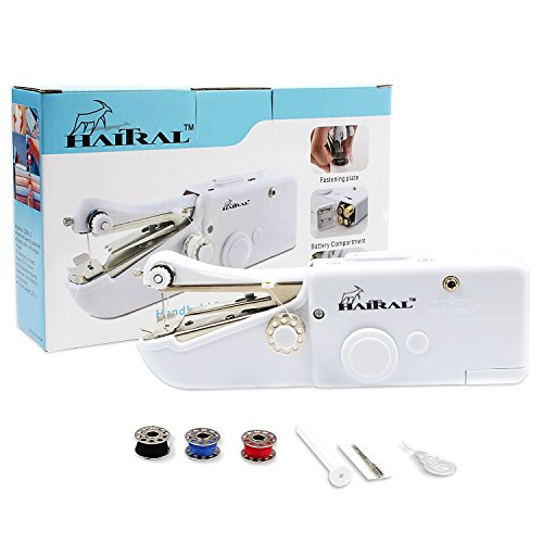 HAITRAL Handheld Sewing Machine Portable Quick Stitch Tool for Fabric, Clothing, or Kid's Cloth