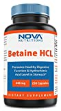 Betaine HCL 648 mg 250 Capsules by Nova Nutritions Review