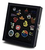 Hobbymaster Pin Collector's Compact Display Case for Disney, Hard Rock, Olympic, Political Campaign & Other Collectible pins, Holds 20-50 pins (Black)