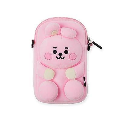 BT21 Official Merchandise by Line Friends - Cooky Character Plush Figure Design Mini Messenger Shoulder Cross Bag, Pink: Computers & Accessories