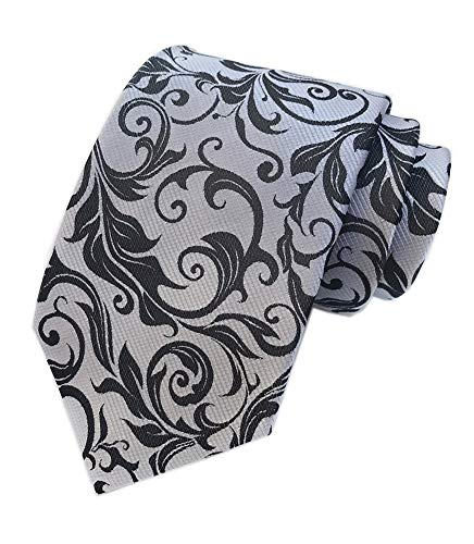 (Silver Black Navy Young Woven Silk Tie Fashion Gentleman Dress Nice Boys Necktie)