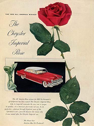 The Chrysler Imperial Rose All America flower ad 1952 ()
