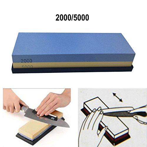 Price comparison product image Double-sided 2000-5000 Grit Premium Whetstone. Knife Sharpening Stone VALUE BUNDLE Kit. ENJOYABLE,  Smooth,  EFFORTLESS. NO-SLIP Base,  Utmost SAFETY,  Superior QUALITY, Perfect GIFT! by Cafolo