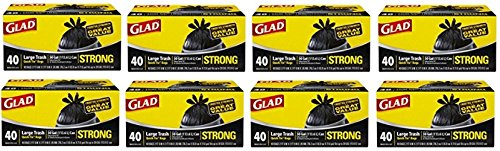 Glad Strong Quick-Tie Large Trash Bags - 30 Gallon - 40 Count - 8 Pack