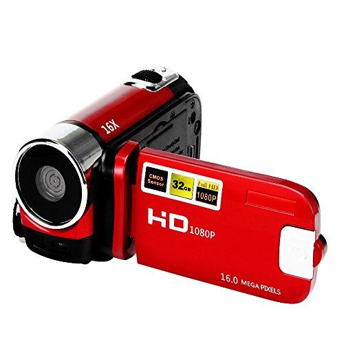 TLoowy Digital Camera Mini HD 1080P 16M 16X Digital Zoom Video Camcorder DV, Professional 2.7