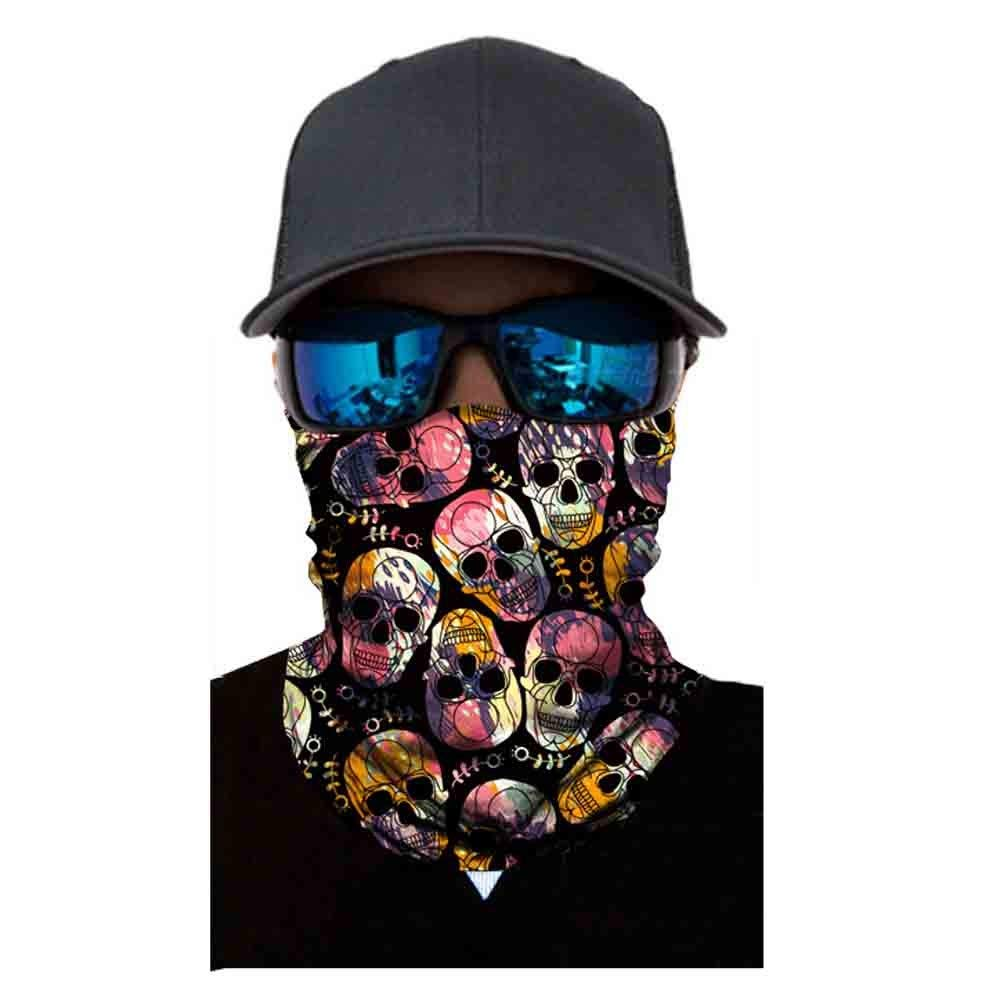 Sikye for Outdoor Sport Multifunctional Headwear - Face Shield Windproof Neck Gaiter Seamless Sweatband Sun Protection (D4)