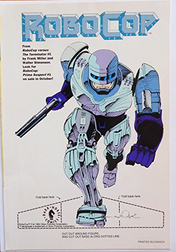 Dark Horse 1992 Robocop vs The Terminator Comic Promo Mini-Standee