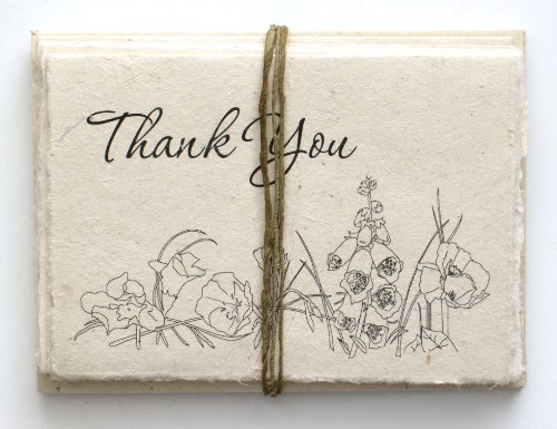 - Handmade Seeded Plantable Thank You Cards Set of 6 Wildflowers