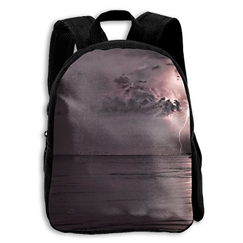 FIDALJF Cool Storm Lightning Landscape Children's Backpack Little Kid School Bag With Adjustable Shoulders Ergonomic Back Pad Perfect For School, Security, Sporting Events (Lightning Shoulder Pads)
