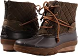 Sperry Top-Sider Women's Saltwater Wedge Tide Quilted Rain Boot, Brown, 6 Medium US