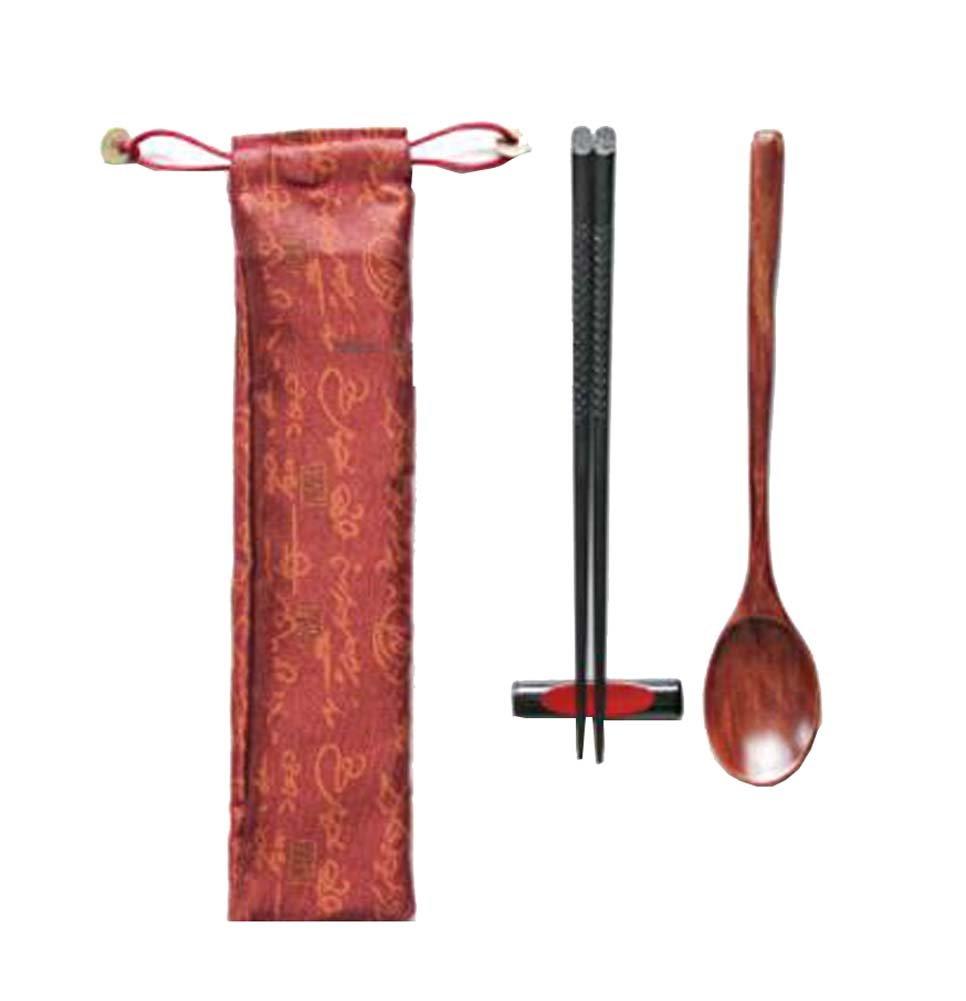 Japanese Chopsticks Set, Wooden Chopsticks Reusable Safe Chopsticks - A8 Black Temptation