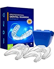 Neomen Bruxism Mouth Guard For Grinding Teeth - Professional Dental Guard - 2 Sizes, Pack of 4 - Upgraded Night Guard For Teeth Grinding , Stops Bruxism, Tmj & Eliminates Teeth Clenching