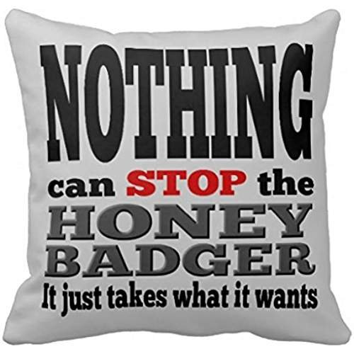 Nothing Can Stop The Honey Badger Mojo Rec0a5c2b7ca1446f909ccaf66970309c I5fqz 8byvr Pillow Case 18 18