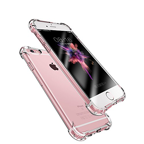 iphone 7 Case, iPhone 8 Case,iPhone 7 Plus Case, iPhone 8 Plus Case,iPhone X Case, Apple Crystal Clear Shock Absorption Technology Bumper Soft TPU Cover Case (iphone (Soft Tpu Bumper Case)