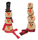 Celebrations Xf25533ast Stacked Snowman Heads Christmas Decor, Multicolored (Pack of 4)