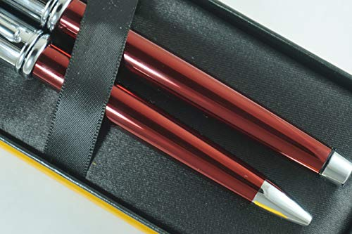 Cross Townsend Limited Edition Series Metallic Ruby Red Selectip Gel Ink Rollerball Pen and Ballpoint Pen Set Rare Combo of Cross Pen Sets by A.T. Cross (Image #1)