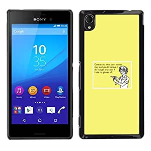 // PHONE CASE GIFT // Duro Estuche protector PC Cáscara Plástico Carcasa Funda Hard Protective Case for Sony Xperia M4 Aqua / Glasses Geek Girl Cute Funny Quote Humor /