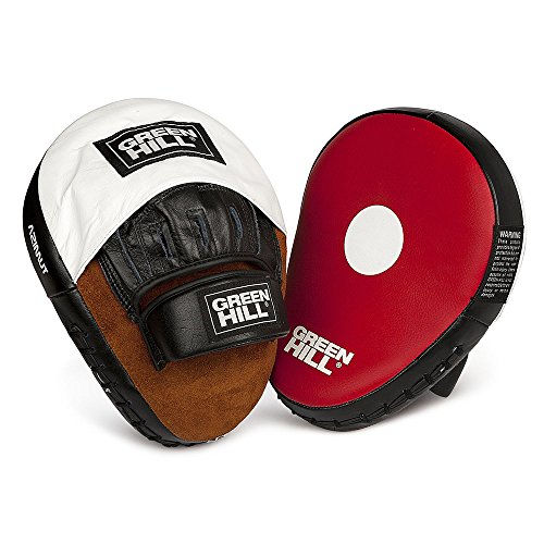 Focus Mitt ''AZIMUT'' Punch Mitt Punching Mitt made of Top Quality Leather with slight Curve on bottom by Greenhill