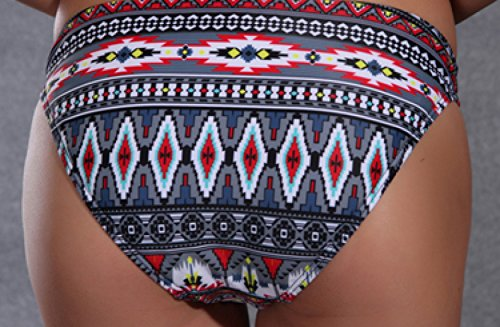 KUWOMINI.Woman Bikini Floral Retro Cintura Baja Del Bikini Set Grey