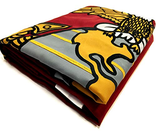 Winbee US Marines Corps Flag 2x3 Ft: Double Sided Embroidered, Double Nylon, Sewn Stripes, Heavy Duty Brass Grommets and UV Protection. Premium 2x3 USMC Flag and U.S. Military Flag