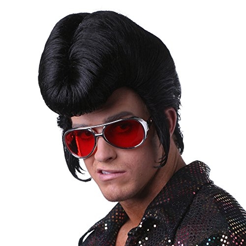Sepia Costume New Elvis Style Synthetic Wig Black