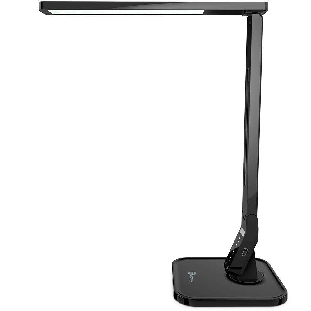 TaoTronics LED Desk Lamp with USB Charging Port, 4 Lighting Modes with 5 Brightness Levels, 1h Timer, Touch Control, Memory Function, Black, 14W, Official Member of Philips EnabLED Licensing Program by TaoTronics (Image #1)