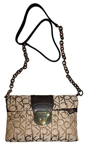 Women's Calvin Klein Purse Handbag Crossbody Khaki/Brown