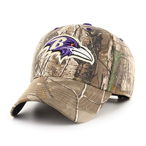 OTS NFL Baltimore Ravens Male Hickory All-Star Adjustable Hat, Realtree, One Size