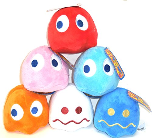 """Used, Pac-Man 5"""" Ghost Plush Doll Set of 6 Pac Man Ghost for sale  Delivered anywhere in USA"""