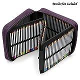BTSKY 160 Slots Pencil Case - -Oxford Fabric Pencil Organizer Handy Pencil Wrap Holder for Prismacolor Watercolor Pencils, Crayola Colored Pencils, Marco Raffine Pencils (Purple)