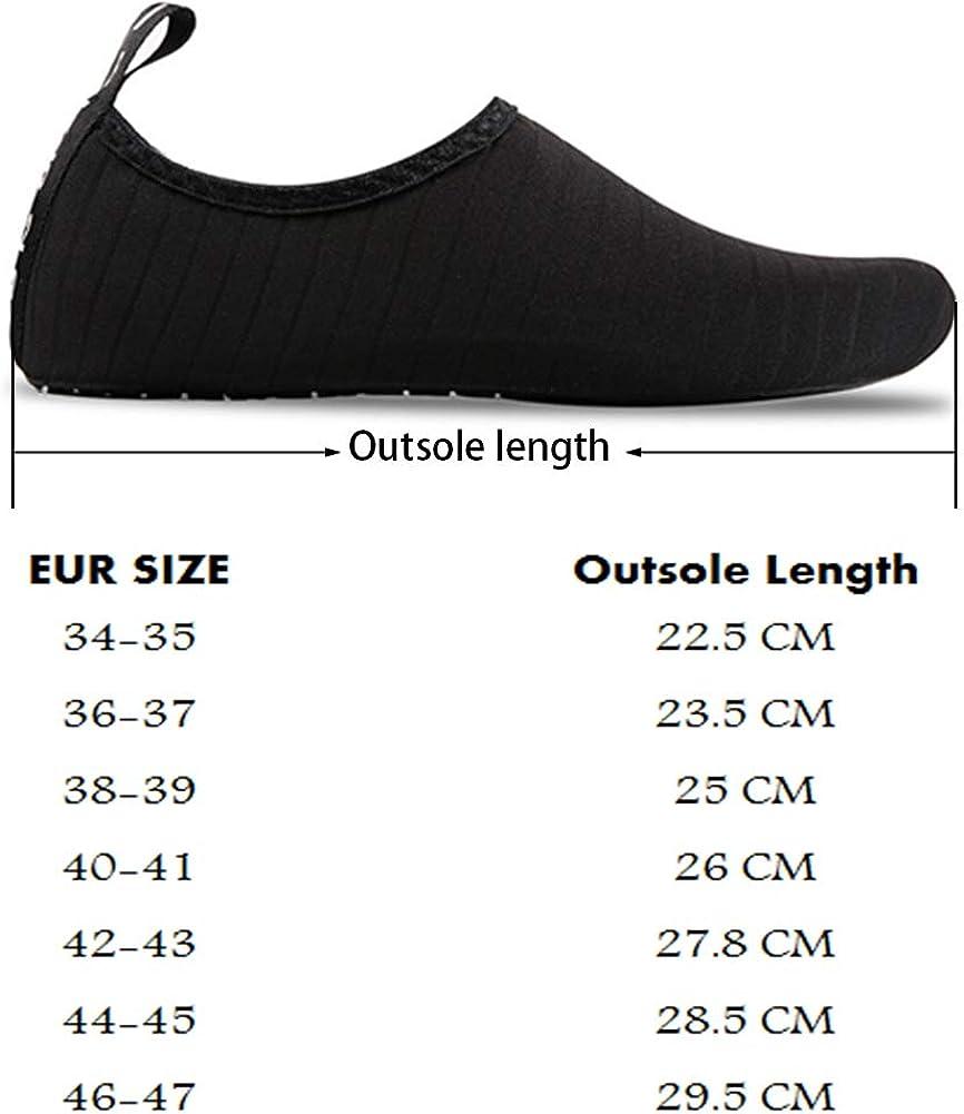 UBFEN Zapatos de Agua Hombre Mujer Zapatillas Secado R/ápido Calcetines de Descalza Zapatos de Playa de Verano Deportes Acu/áticos para Buceo Surf Yoga