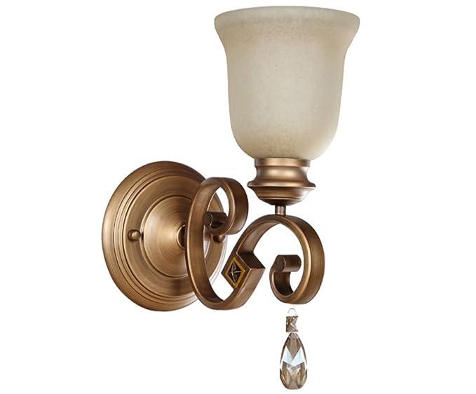 Npz lampada da parete in cristallo di lusso in stile europeo in