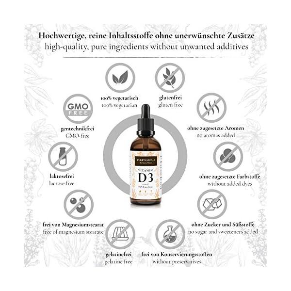 Vitamine D3 1000 IE par Goutte testée en laboratoire – Longue Conservation avec 1700 gouttes (50ml) – dans de l'huile…