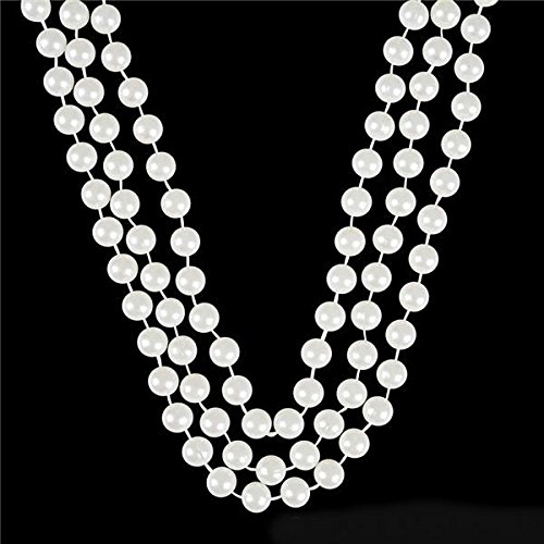 White Faux Pearl Necklaces -12 pk- Play Kreative - Necklace Pearl 12mm