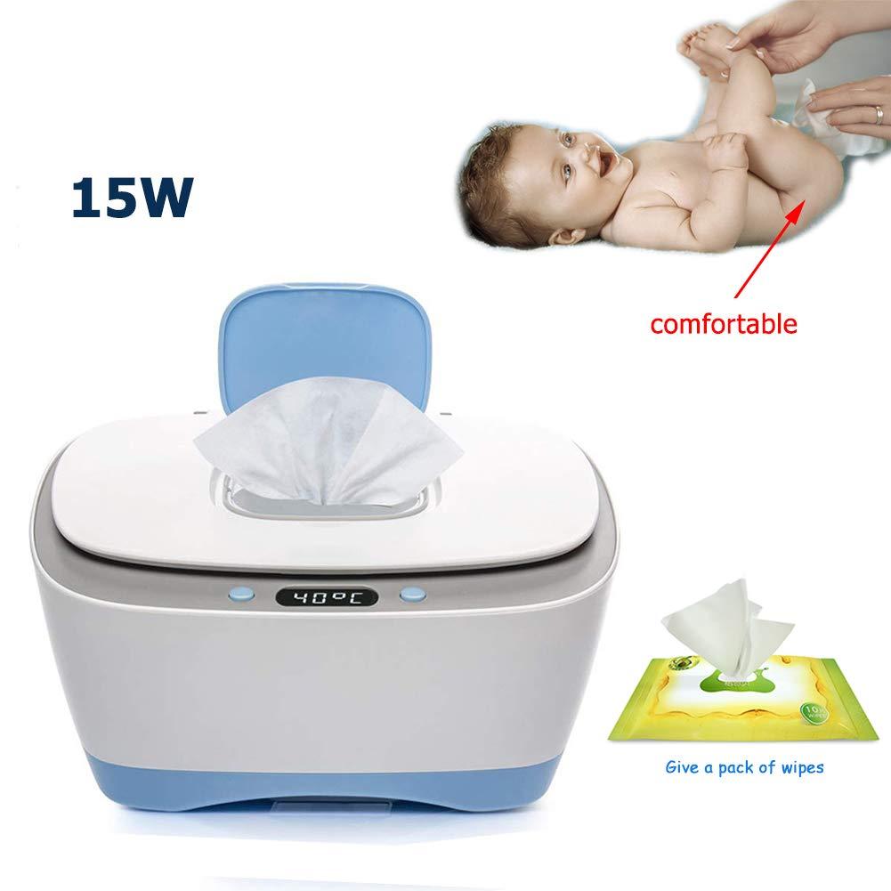 Beb/é Toallitas Calentador//Toallitas Caja De Tejido Caja De Desinfecci/ón Hidratando La Comodidad De La Salud Wipe Warmer Azul