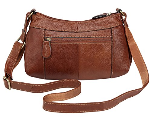 Casual Handbags Messenger Bags Brown Tote Satchel Brown Womens Body Purse Leather Hobos Cross Shoulder For Wallet RqHn0SwOY