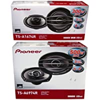 PIONEER TS-A1674R 6.5 + TS-A6974R 6x9 Speakers Package