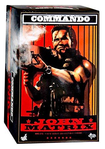"Hot Toys Movie Masterpiece Arnold Schwarzenegger Commando John Matrix 1/6 Scale 12"" Figure"