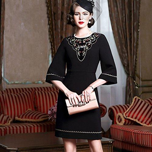 Flare a line Women`s Sleeve Dresses Bodycon Round Neck cotyledon Dress q6Y5xH