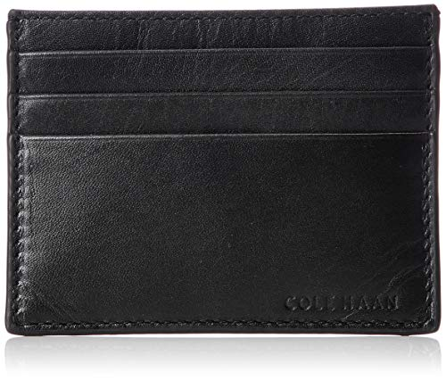 Cole Haan Mens Wallets - Cole Haan Men's Hamilton Grand Credit Card Case, black, One Size