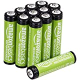 AmazonBasics AAA Rechargeable Batteries (800 mAh), Pre-charged - Pack of 12 (Appearance may vary)