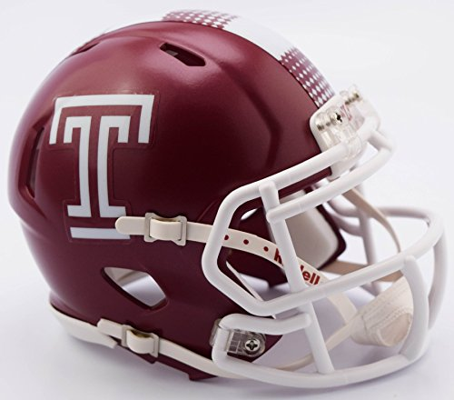 TEMPLE OWLS NCAA Riddell Revolution SPEED Mini Football Helmet by Riddell