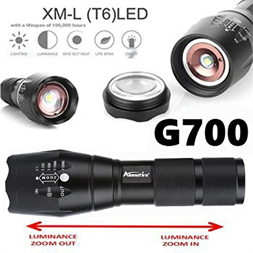 G700 Tactical Flashlight LED Military Lumitact Alonefire Stretchable...