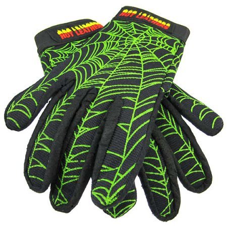 Zeckos - Spider Web Motorcycle Gloves Mechanics Work - Black - Size Medium