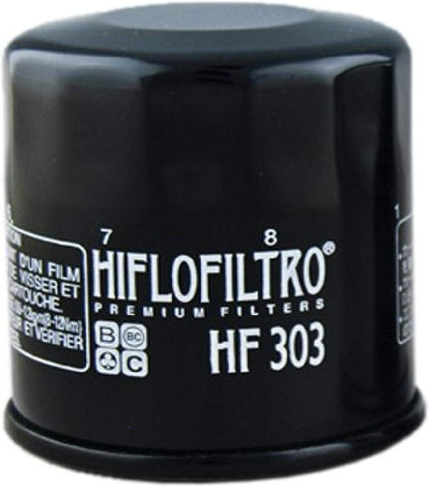 Hiflofiltro HF303-2 Black 2 Pack Premium Oil Filter, 2 Pack